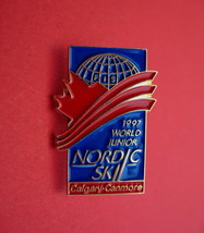 World Junior Nordic Ski Calgary Canmore Alberta Lapel Pin - $7.99