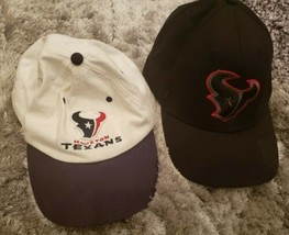 Lot of 2 Houston Texans NFL Team Apparel On Field Adjustable Hats - $26.76