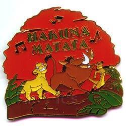 Disney Lion King Simba, Pumba, Timon singing Pin/Pins