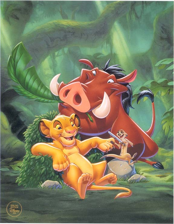 Disney Lion King Special Ed. 1995 Lithograph