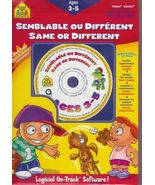School Zone CD Workbook Same Different Homeschool Educational Age 3 to 5  - $7.93