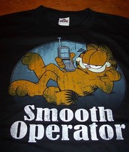 VINTAGE STYLE GARFIELD SMOOTH OPERATOR T-Shirt LARGE NEW - $19.80