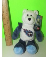 TN Titans Beanbag plush teddy bear white blue NFL Team Pro Bear 2000 - $8.90