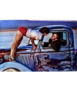 First Kiss Peter Torres Man Cave Retro Automotive Classic Metal Sign - $29.95