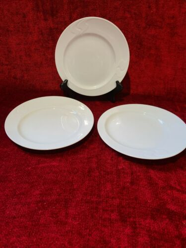 Primary image for Rosenthal Asymmetria White Set of 3 Salad Plates 8 1/8""
