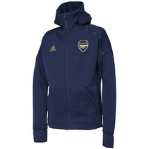 adidas Men's Arsenal FC ZNE HD 3.0 Jacket Hoodie Navy Apparel Soccer NWT... - $131.47
