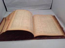 Antique Leather Bound Webster Dictionary  image 11