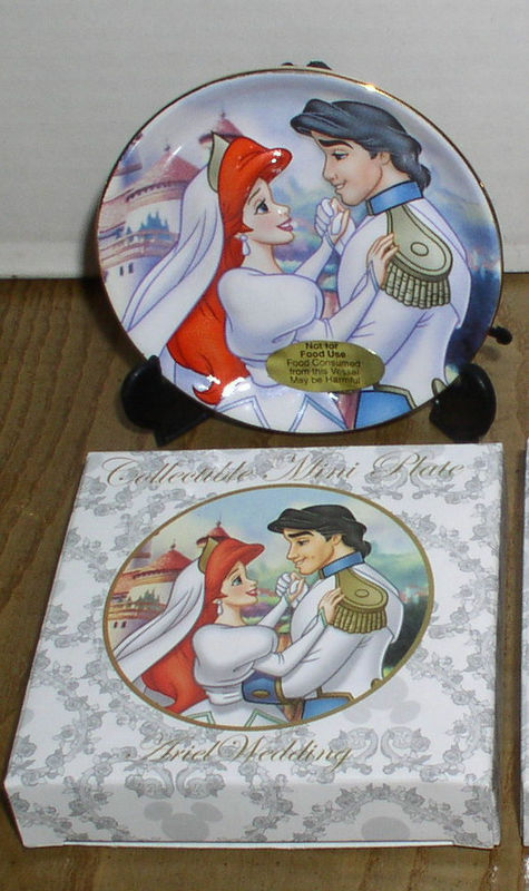 Disney Little Mermaid & Prince Wedding Porcelain Plate