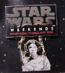 Disney MGM Star Wars Weekend Princess Leia dagle Pin