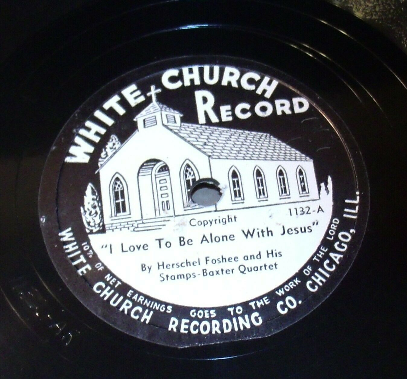 White Church Record # 1132 AA-191720O Vintage Collectible