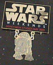 Disney MGM Star Wars Weekend R2 D2  dagle Pin/Pins