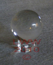 Clear Crystal Ball 50mm in diameter Wiccan Divination - $8.95
