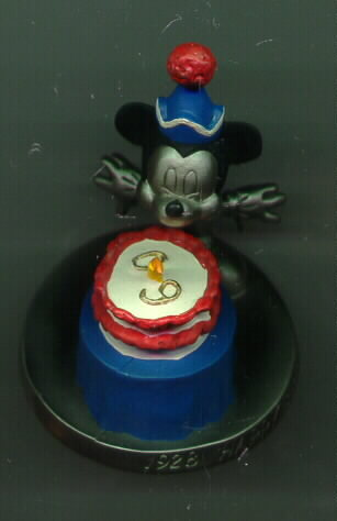 Disney Mickey 60 Birthday Pewter Limited rare Figurine