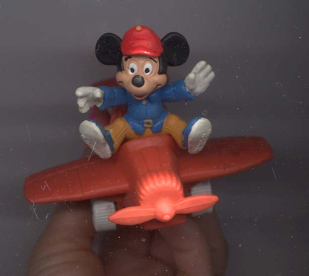 Disney Mickey Airplane Pilot Rare Figurine