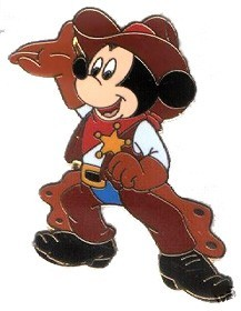 Disney Mickey Cowboy pin/pins