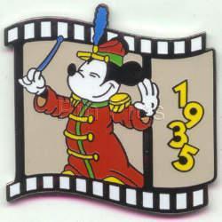 Disney Mickey Filmstrip Bandleader dated 1935  Pin/Pins