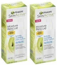 2 Pack - Garnier Skin Active - Moisture Rescue - Daily Lotion - Exp 8/17+ - $9.95