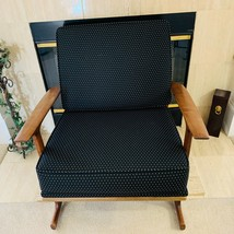 Vintage LB Kofod Larsen Selig Lattice Back Sled Lounge Chair - $925.00