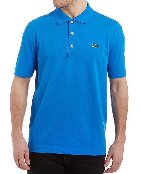 Lacoste Sport Men's Classic Athletic Cotton Polo T-Shirt Nattier Blue L1230