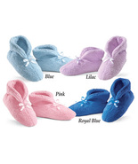 Ultra Plush Chenille Slippers, Blue, Large  - $19.91
