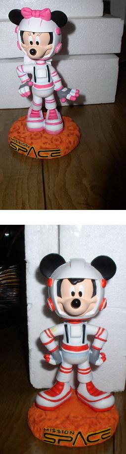 Disney Mickey & Minnie Mission Space 2 Bobble Heads