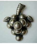 Big Vintage Mexico Sterling Silver Grapes Pin B... - $45.00