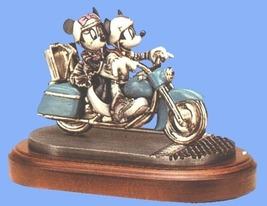Disney Mickey Minnie blue motor cycle PEWTER - $599.99
