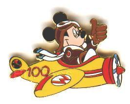 Disney Mickey Mouse Airplane Pilot Never Sold pin/pin