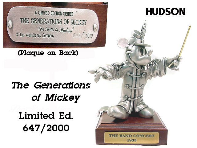 Disney Mickey Mouse Band Leader Pewter