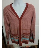 Koto Urban Outfitters Cardigan Sweater Red Striped V -Neck Long Sleeve M... - $44.55