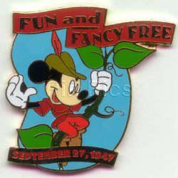 Disney Mickey Mouse  Fun Fancy Free dated 1947 pin