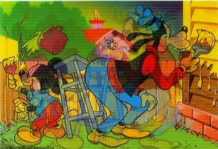 Disney Mickey Mouse Goofy 3D Lenticular print