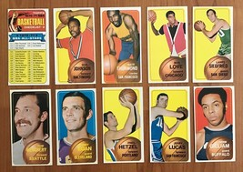 1970-71 TOPPS BASKETBALL CARDs LOT OF 10 DIFF w/ THURMOND, LOVE & CHECKLIST - $39.55