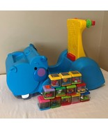 Fisher Price Peek A Block Gobble and Go Hippo Ride On Walker Toy with 12... - $29.99