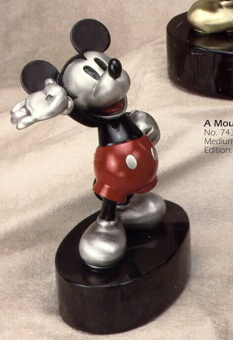 Disney Mickey Mouse LTED 500 Pewter Chilmark Rare