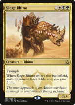 Siege Rhino x4 English Khans of Tarkir NM  - $4.46