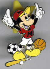 Disney Mickey Mouse Multi sport pin/pins