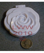 Gothic White Rose Mirror Compact New - $4.99