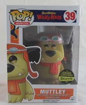 Funko Pop! Hanna Barbera Wacky Races Muttley Flocked #39 Gemini Exclusiv... - $34.64