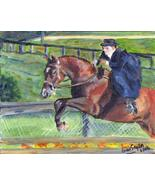 Sidesaddle Horse Portrait Matted Art Print - 5 in x 7 in Design - 8 in x... - $6.99
