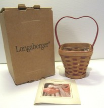 Longaberger Sweetheart Heart's Delight Basket with Protector Box (2007) - $34.60