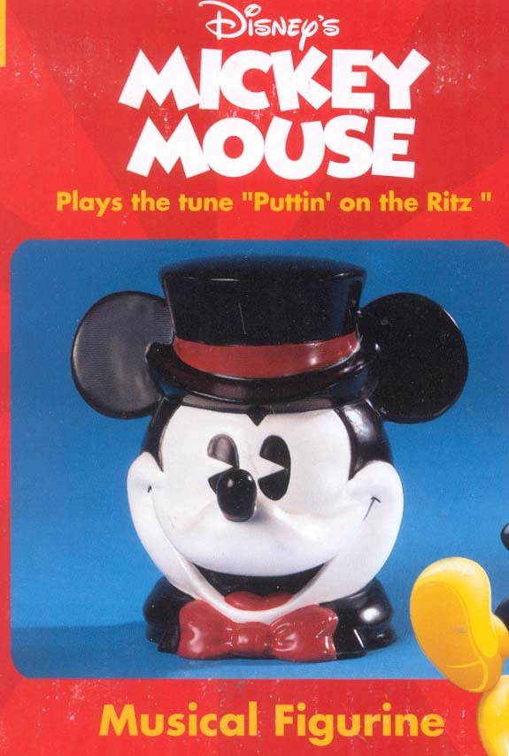 Disney Mickey Mouse Top Hat Music Box rare