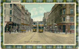 Jamaica Street and Trolley Glasgow vintage Post Card - $7.00