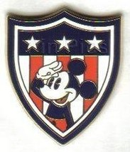 Disney Mickey Shield Americana Flag patriotic pin/pins - $19.33