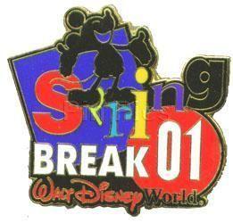 Disney Mickey WDW Spring Break Limited Edition pin/pins