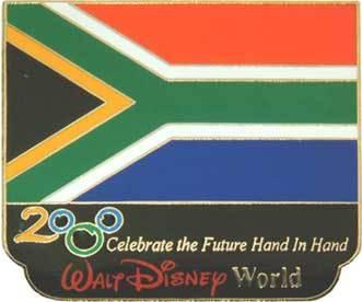 Disney Millennium Village Pavilion Africa Flag pin