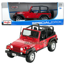 Maisto Special Edition 1:18 Scale Die Cast Red Compact SUV JEEP WRANGLER... - $49.99