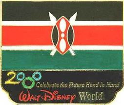 Disney Millennium Village Pavilion Kenya Flag Pin/Pins - $49.99