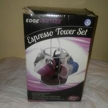 Edgevantage Espresso 9 Piece Tower Set 4 Cups - $24.75