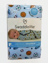 Swaddle Me Original Swaddling Blanket Summer Infant Sports Balls Design New - $16.44